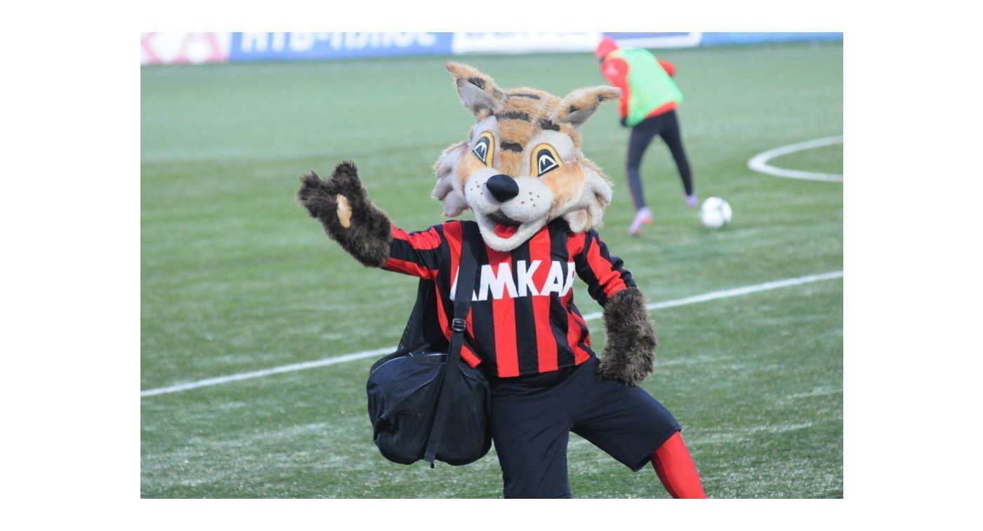 Талисман футбольного клуба Амкар - рысенок Макар