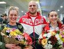 Анастасия Войнова, Денис Дмитриев и Дарья Шмелева (слева направо)