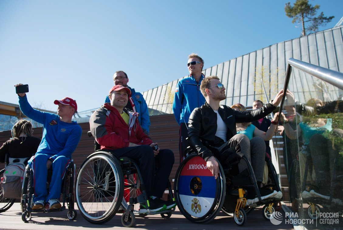 Спортсмены паралимпийской сборной России по велоспорту