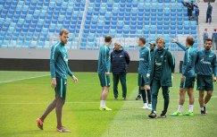 Тренировка ФК Зенит на Санкт-Петербург Арене