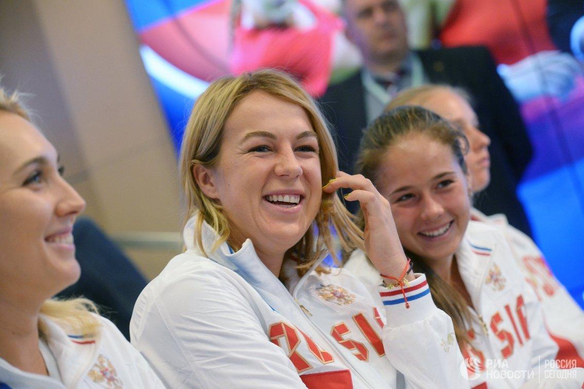 Российские теннисистки Анастасия Павлюченкова и Дарья Касаткина (слева направо)