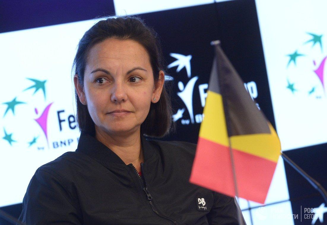 Капитан женской сборной Бельгии Доминик Монами