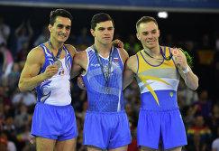 Мариан Драгулеску, Артур Далалоян и Олег Верняев (слева направо)