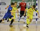 Игровой момент матча чемпионата России по мини-футболу между Новой генерацией и Ухтой