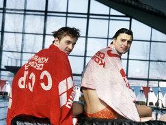 Серебряные призеры летних Олимпийских игр 1980 года Евгений Середин (слева) и Виктор Кузнецов
