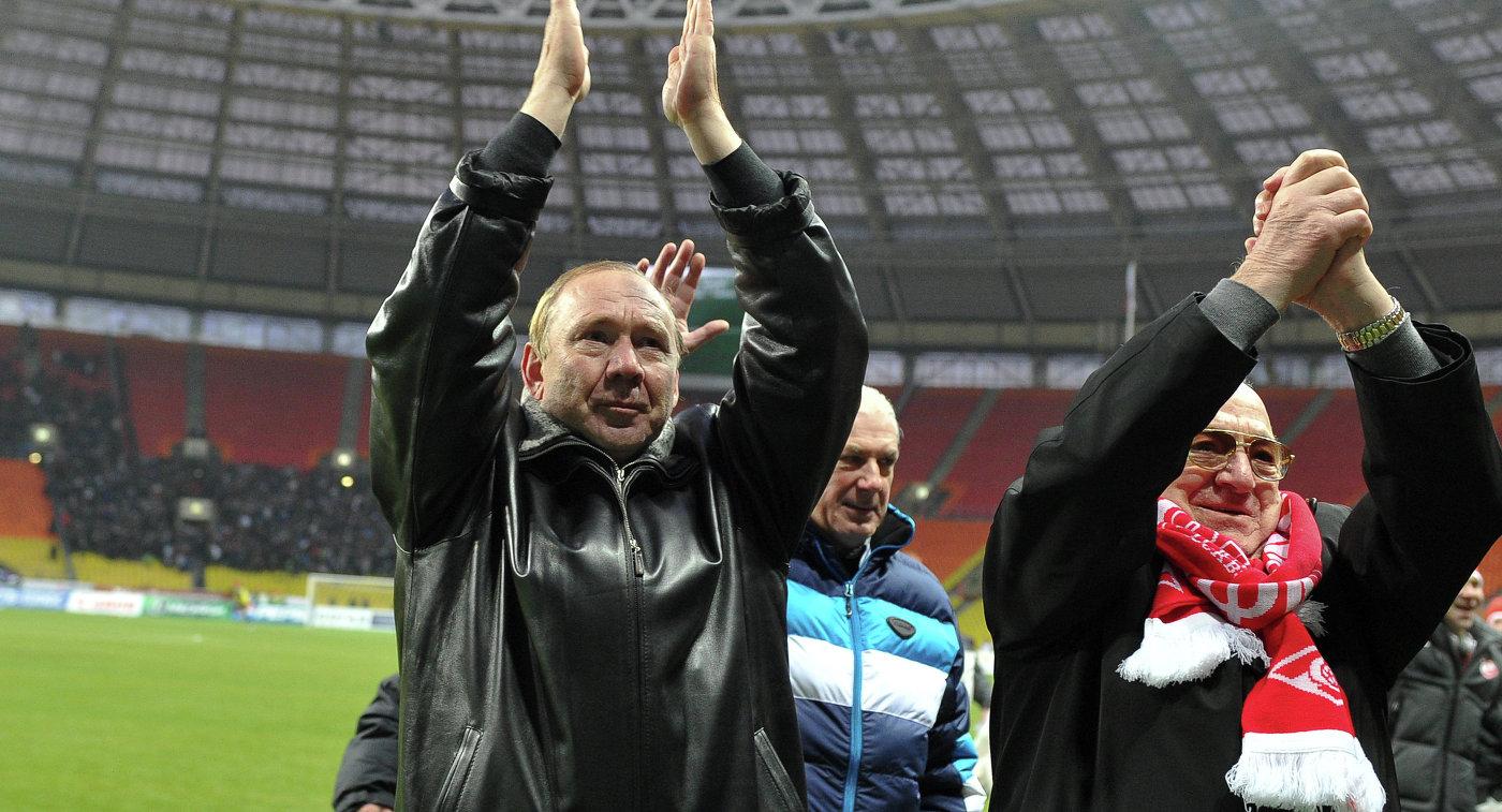Олег Романцев и Никита Симонян (слева направо)
