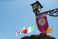 """Логотип сотой велогомногодневки """"Джиро д'Италия"""" в Сардинии"""