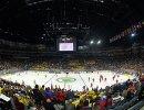 Ланксесс-Арена в Кельне перед началом матча группового этапа чемпионата мира по хоккею 2017 между сборными Швеции и России