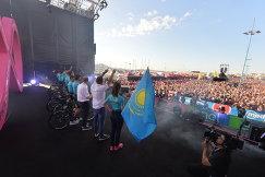 "Презентация велокоманды ""Астана"" на ""Джиро д'Италия"""