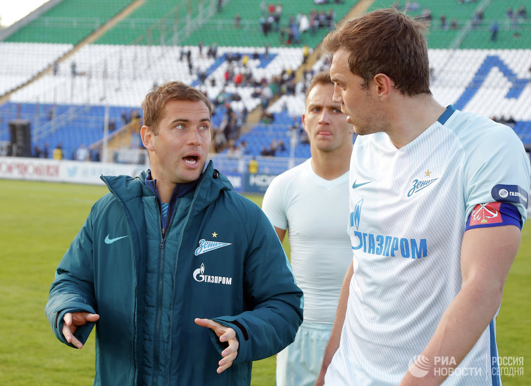 Футболисты Зенита Александр Кержаков, Доменико Кришито и Артем Дзюба (слева направо)