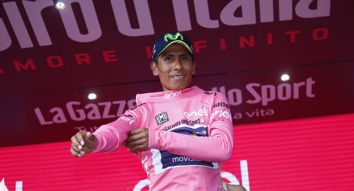 Колумбийский велогонщик Наиро Кинтана из команды Movistar