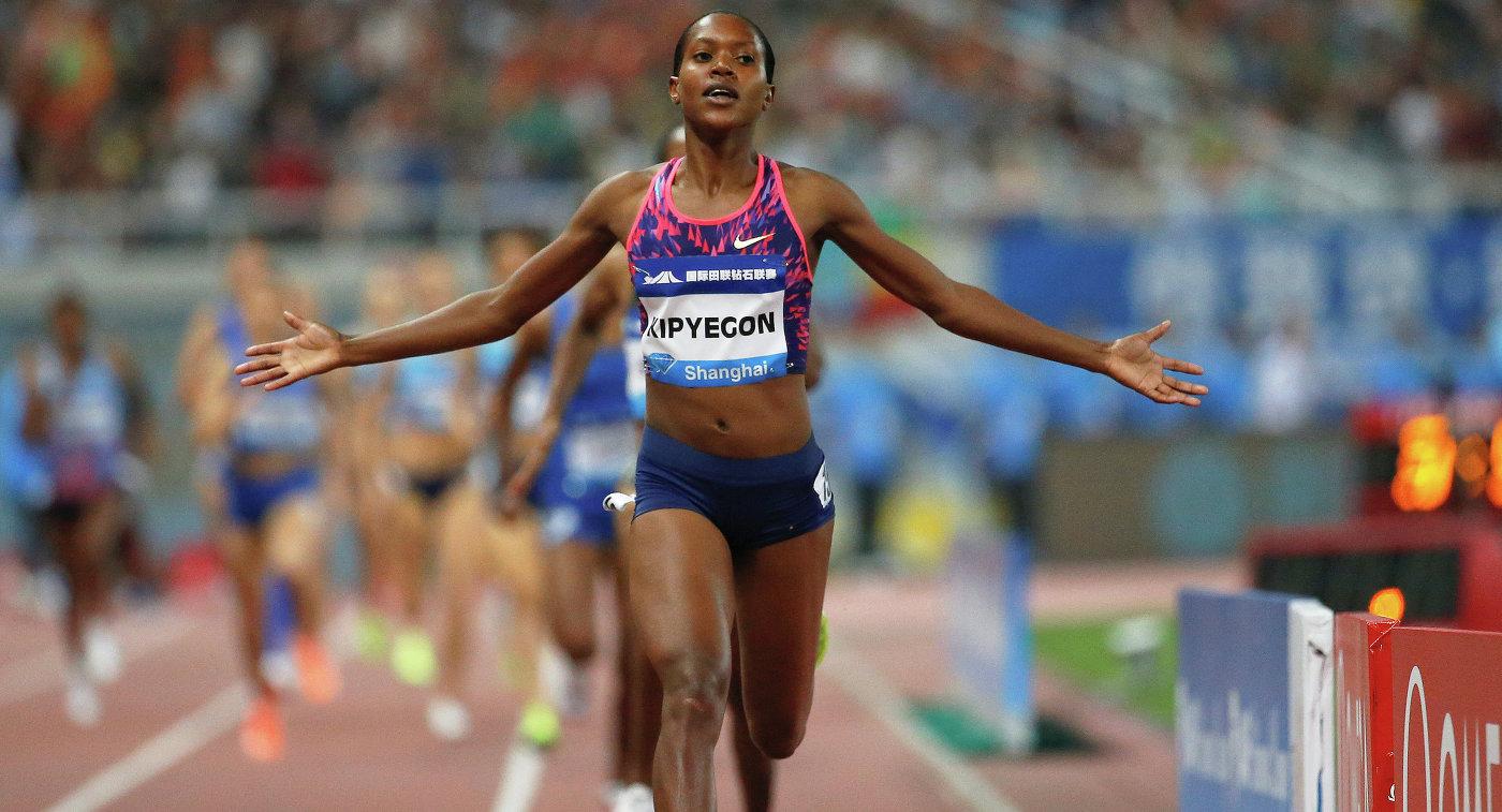 Олимпийская чемпионка 2016 года кенийская бегунья Фейт Кипьегон