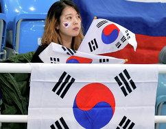 Корейская болельщица