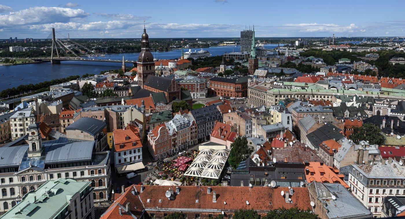 Центральная часть города Риги в Латвии
