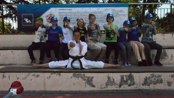 Мастер-классы по карате и воркауту на фестивале ГТО в Артеке