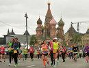 Участники московского полумарафона-2017 во время забега.