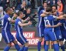 Футболисты Оренбурга радуются забитому голу