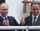 Владимир Путин и Виталий Мутко (справа)