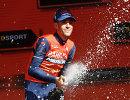 Итальянский велогонщик Винченцо Нибали из команды Bahrain-Merida