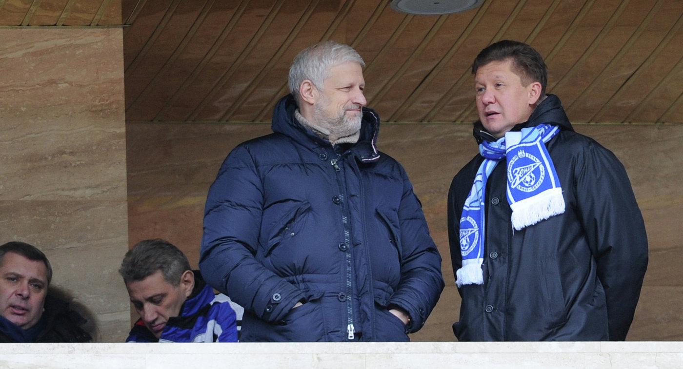 Сергей Фурсенко и Алексей Миллер (слева направо)