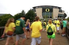 Спортивная арена в городе Юджин, штат Орегон.