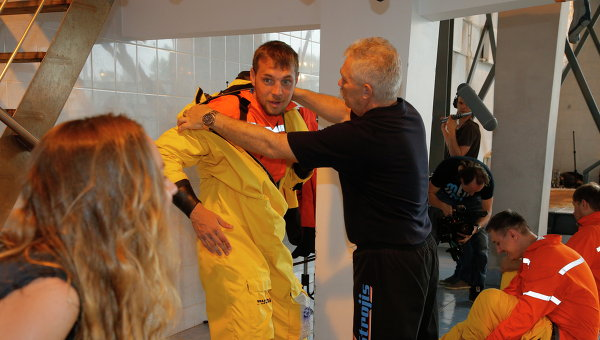 Нападающий санкт-петербургского Зенита Артем Дзюба во время тренировки в Морском учебно-тренажерном центре имени адмирала Макарова