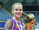 Либеро ВК Динамо (Краснодар) Светлана Крючкова с кубком России по волейболу