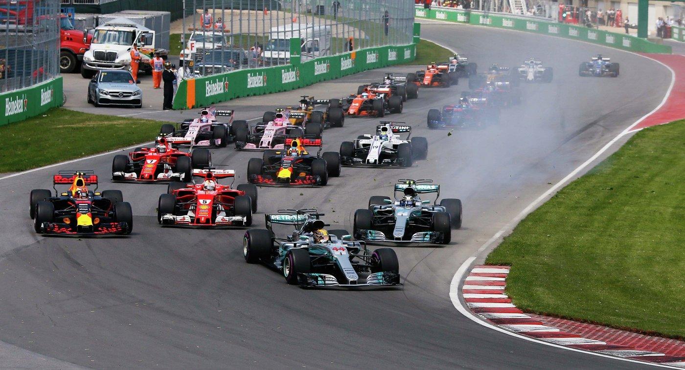 Гонщики на седьмом этапе чемпионата Формулы-1, гран-при Канады