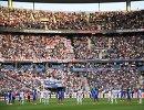 Футболисты сборных Франции и Англии перед товарищеским матчем