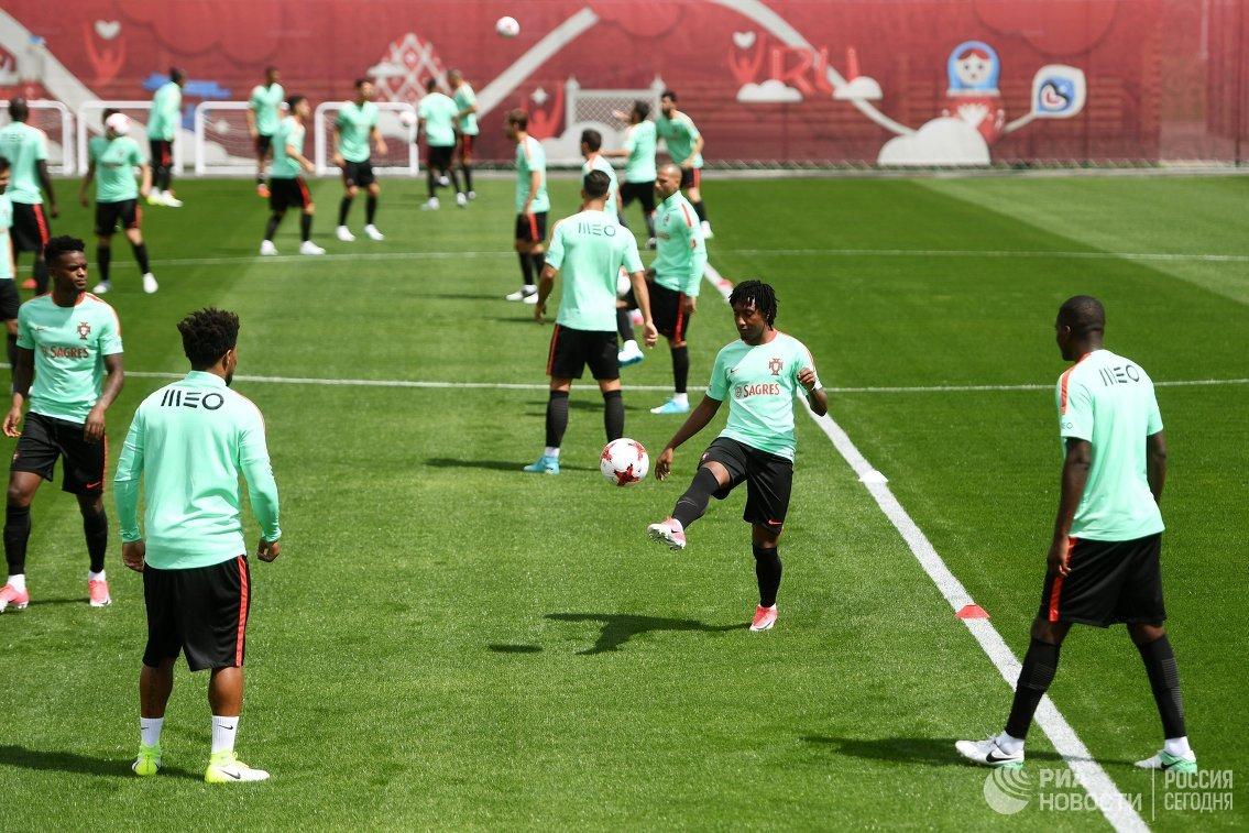Тренировка сборной Португалии перед Кубком конфедераций-2017