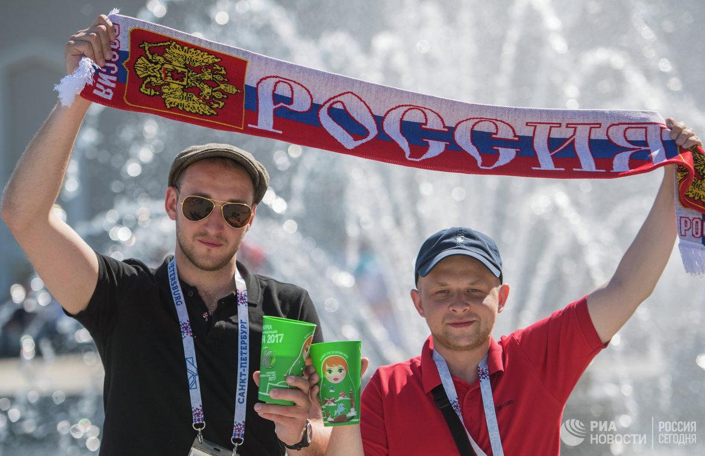 Стадион Санкт-Петербург Арена перед матчем открытия Кубка конфедераций-2017