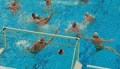 Игроки в матче мужского суперфинала мировой лиги по водному поло между сборными России и Австралии