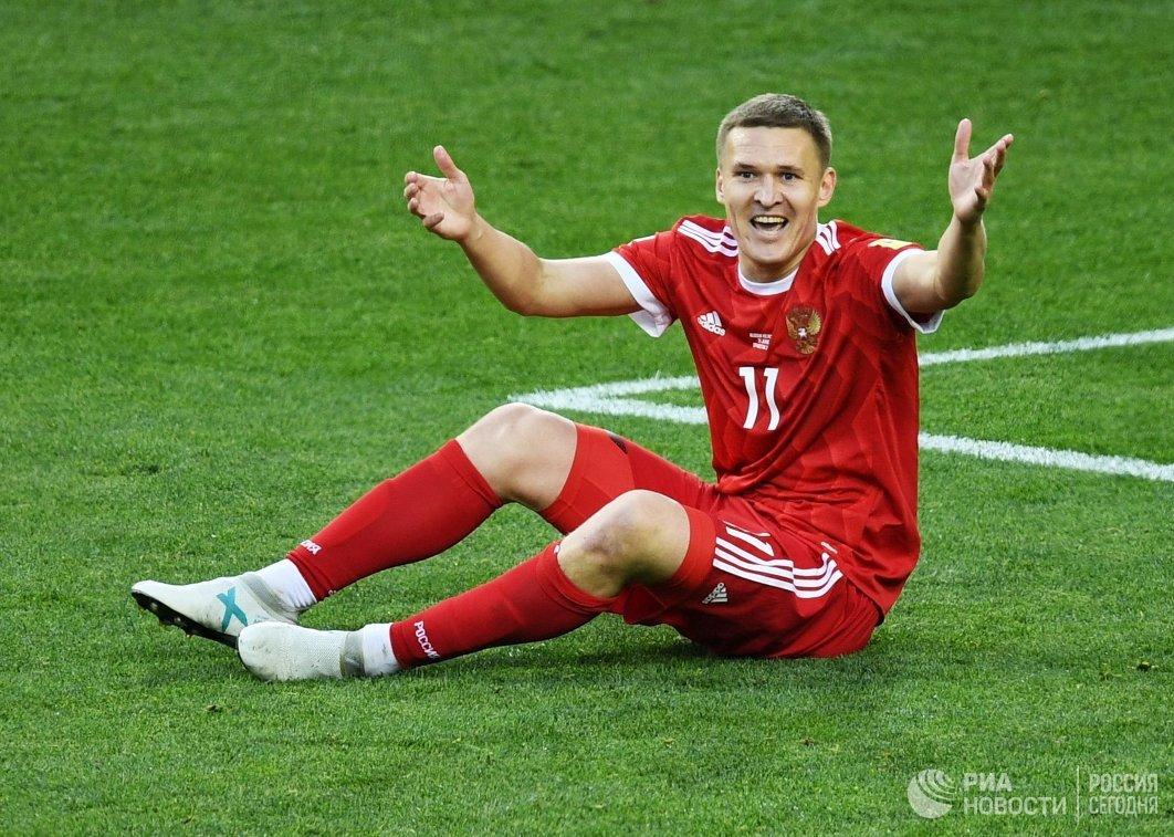Нападающий Ростова и сборной России Александр Бухаров
