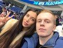 Хоккеист Александр Карпушкин с женой