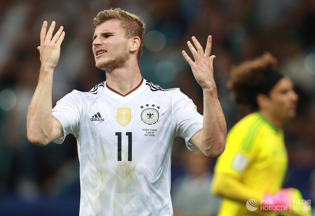 Нападающий сборной Германии Тимо Вернер