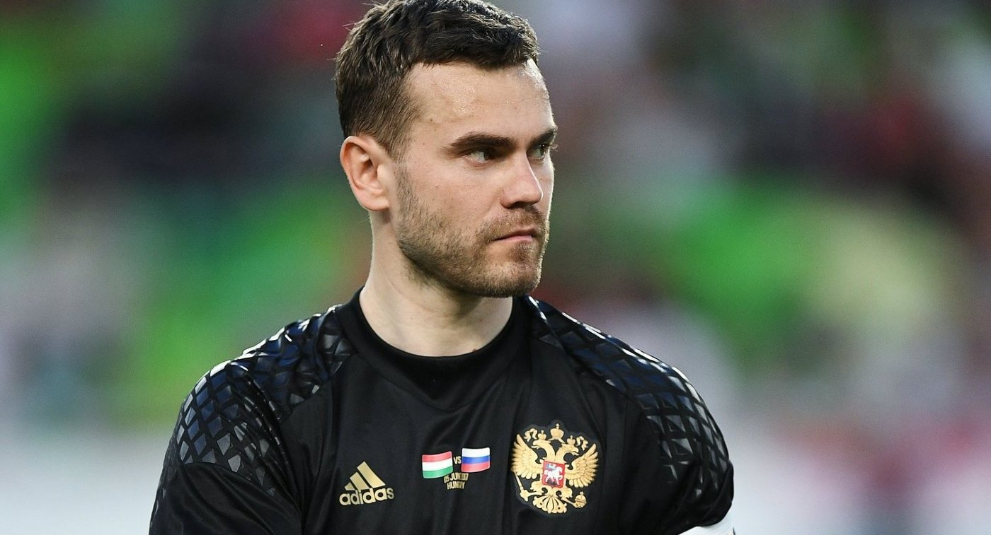 Вратарь сборной России Игорь Акинфеев