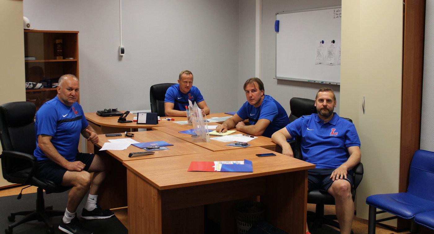 Владимир Шиханов, Артис Аболс, Виктор Игнатьев и Дмитрий Ячанов (слева направо)