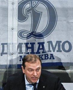 Тренер ХК Динамо Владимир Воробьев