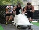 Четверка Алексея Горлачева во время тренировки мужской сборной России по бобслею