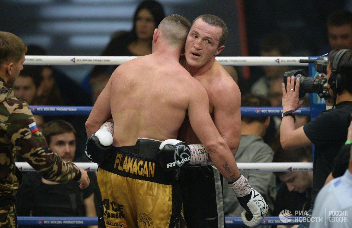 Слева направо: Денис Лебедев и Марк Флэнаган