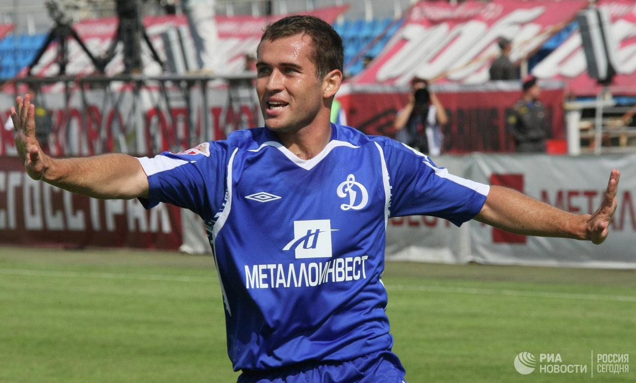 Нападающий Александр Кержаков во время выступления за московское Динамо в июле 2008 года