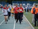 Жители Новосибирской области принимают участие в летнем областном фестивале Всероссийского физкультурно-спортивного комплекса Готов к труду и обороне на стадионе Сибсельмаш в Новосибирске