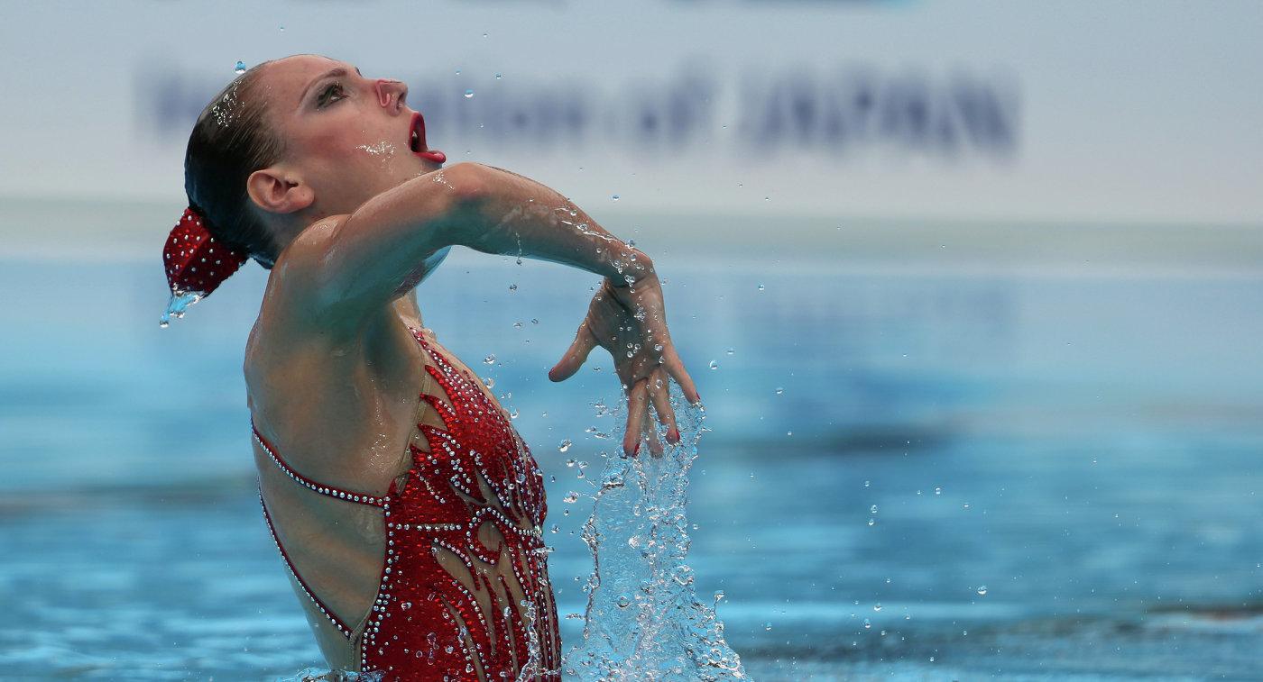 Светлана Колесниченко на чемпионате мира по водным видам спорта в Будапеште