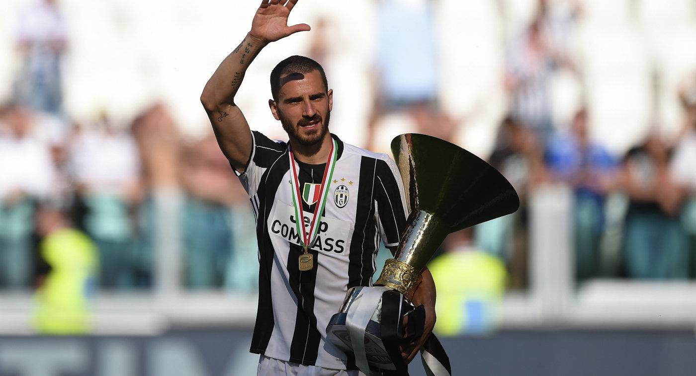 Защитник сборной Италии по футболу и Милана Леонардо Бонуччи