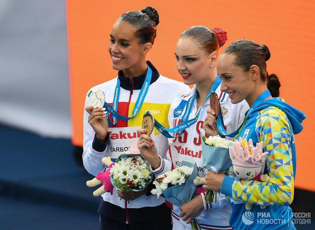 Испанка Она Карбонель, россиянка Светлана Колесниченко и украинка Анна Волошина (слева направо)