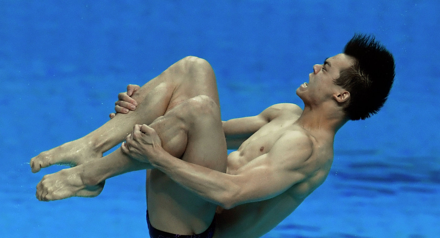 Китайский прыгун в воду Пэн Цзянь Фэн