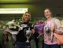 Победители теннисного турнира Уимблдон в парном разряде Елена Веснина и Екатерина Макарова (слева направо)