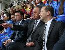Дмитрий Медведев, Виталий Мутко и Андрей Воробьев (справа налево)
