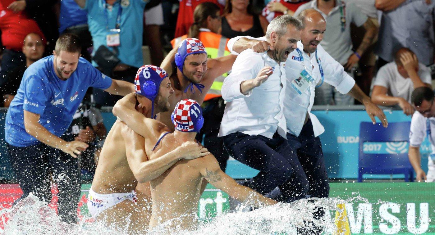 Ватерполисты сборной Хорватии
