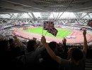 Болельщики на чемпионате мира по легкой атлетике в Лондоне